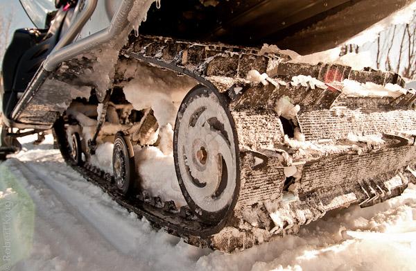 Kette eines Snowmobiles