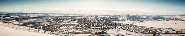 Panorama über Kiruna