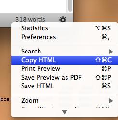 Funktion um das HTML-Markup zu kopieren