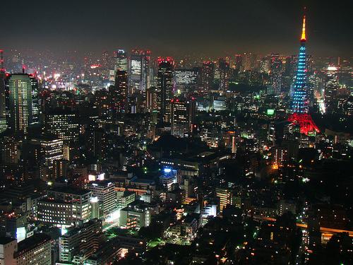 Tokyo Ansicht bei Nacht