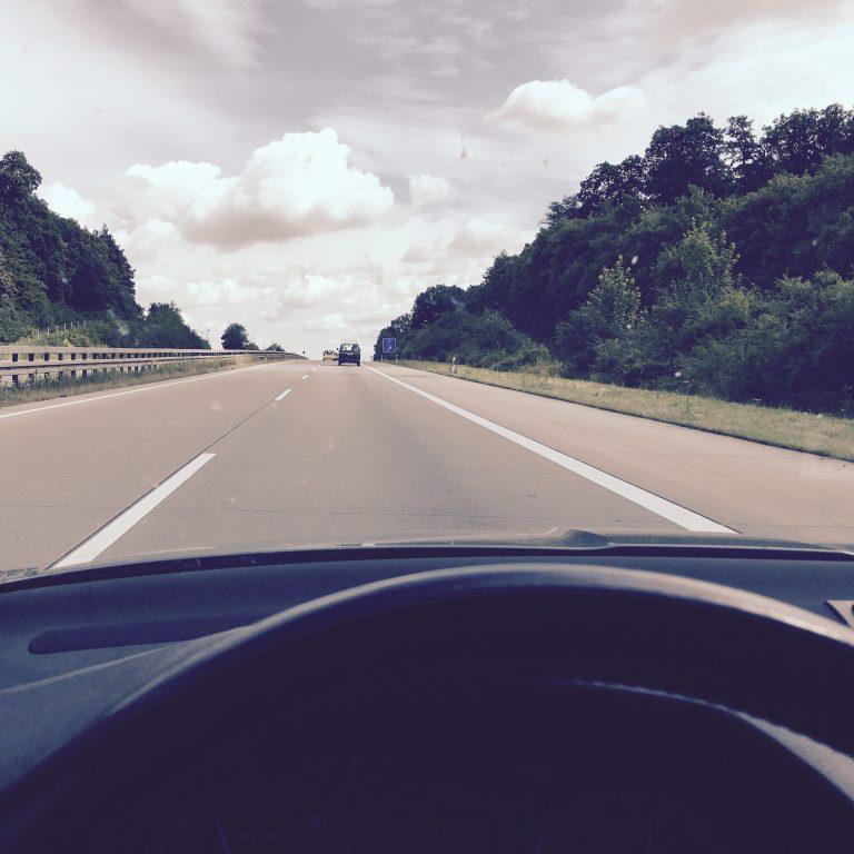 Fahrt auf der A5