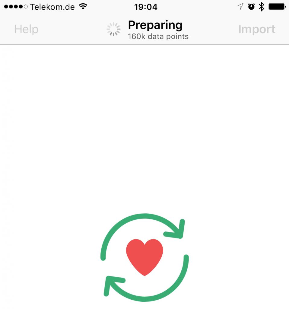 HealthDataImporter kaut auf den Daten rum