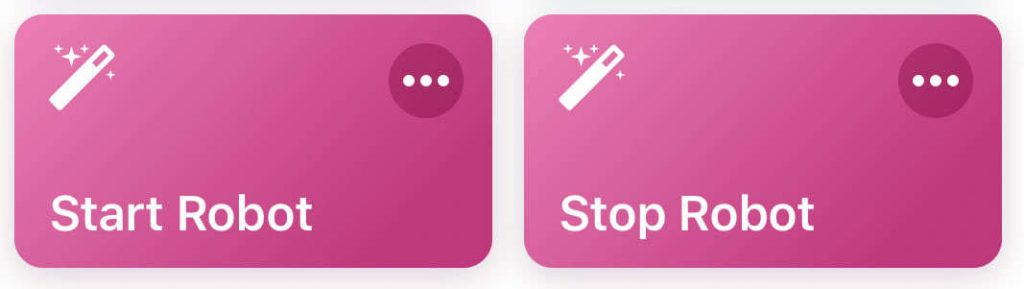 Shortcuts für Start & Stop
